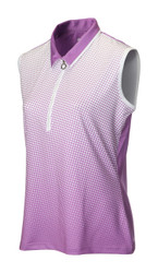 JRB Ladies Spot Sleeveless Golf Shirt