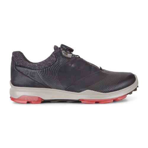 Ecco Women's Biom 3 Boa Goretex Golf Shoes Black Teaberry