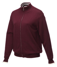 JRB Ladies Windstopper Lined Golf Sweater Burgundy + FREE Snood