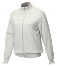 JRB Ladies Windstopper Lined Golf Sweater Light Grey