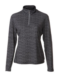 JRB Ladies 1/4 Zipped Golf Top Black Melange