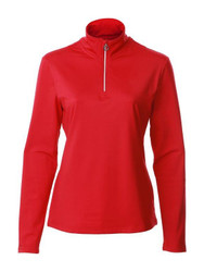 JRB Ladies 1/4 Zipped Golf Top Red