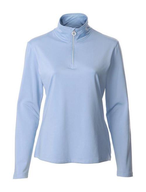 JRB Ladies 1/4 Zipped Golf Top Blue
