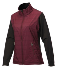 JRB Ladies Windproof Golf Jacket Burgundy