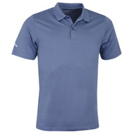 Callaway Golf Mens Classic Chev Solid Polo Shirt Moonlight Blue