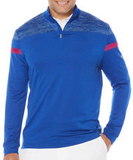 Callaway Golf Mens 1/4 Zip Heathered Knit Thermal Pullover Surf The Web