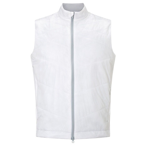 Callaway Golf Mens Chev Puffer Vest Bright White