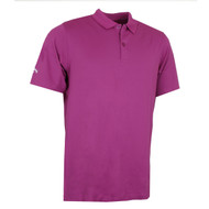 Callaway Golf Mens Classic Chev Solid Polo Shirt Hollyhock