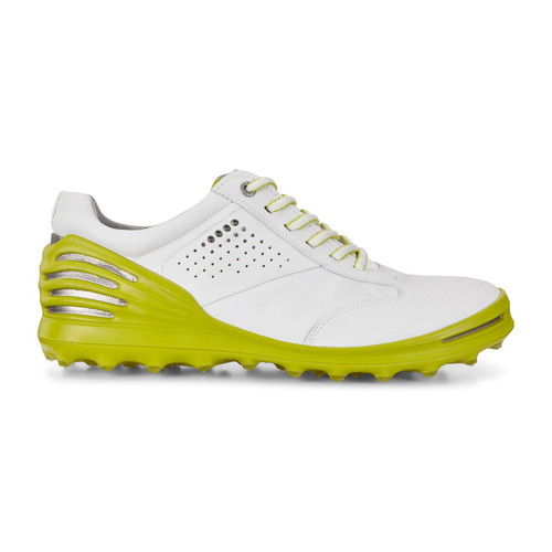 Ecco Mens Cage Pro Golf Shoes white Kiwi