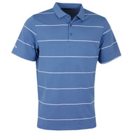 Callaway Golf Mens Chev Auto Stripe Polo Moonlight Blue
