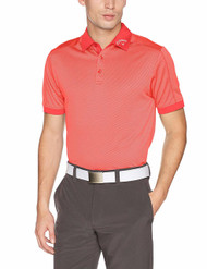 Callaway Golf Mens Jaquard Stripe Shirt Cayenne