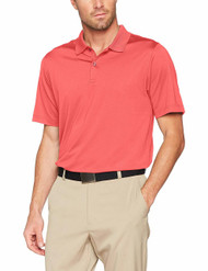 Callaway Golf Mens Classic Chev Solid Polo Shirt Cayenne