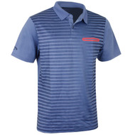 Callaway Golf Mens Ombre Pocket Polo Moonlight Blue