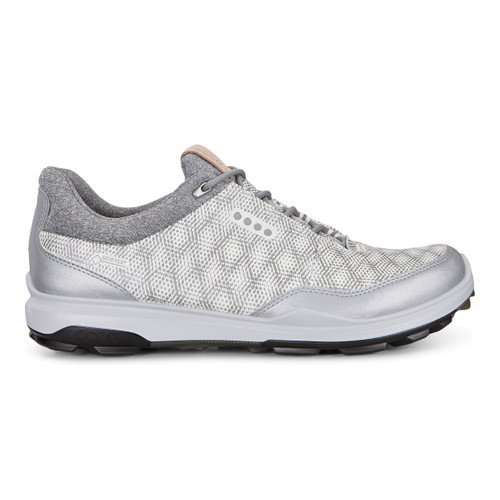 Ecco Mens Biom Hybrid 3 Goretex Golf Shoes White Silver