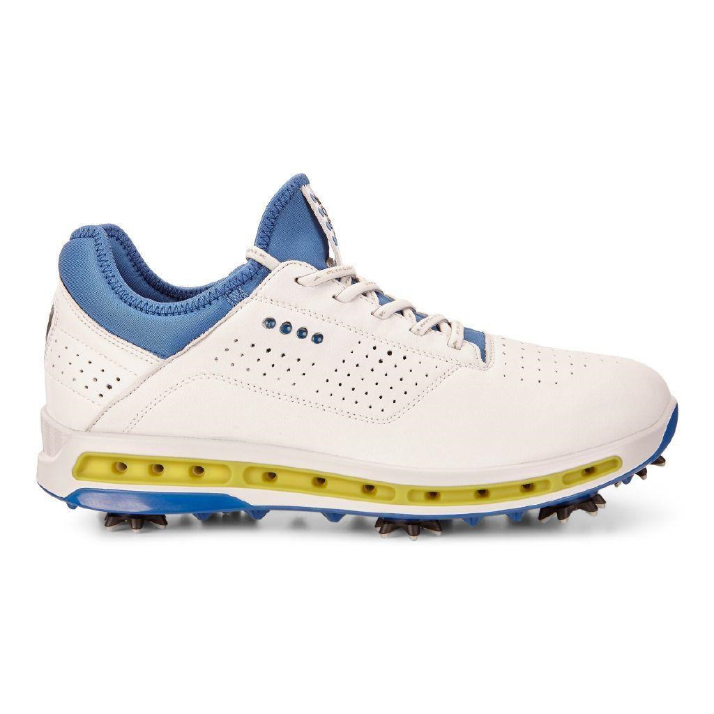 14f28afb Ecco Mens Golf Cool Goretex Shoes White Dynasty Extra Width Option