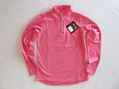 JRB Ladies 1/4 Zipped Golf Top Delphinium Pink