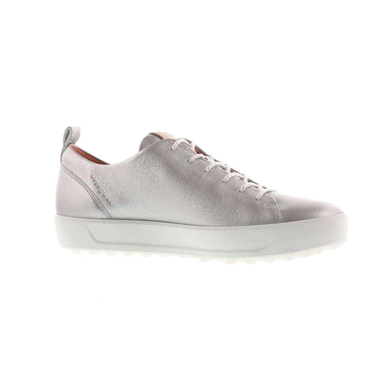bfa4bc949c225 Ecco Women's Golf Soft Shoes Alu Silver - Extra width Option ...