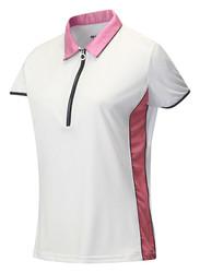 JRB Ladies White Trim Short Sleeved Golf Shirt