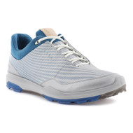 Ecco Mens Biom Hybrid 3 Goretex Golf Shoes White Olympian Blue