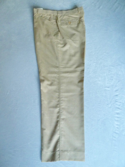 JRB Mens Golf Trousers Beige Check Size