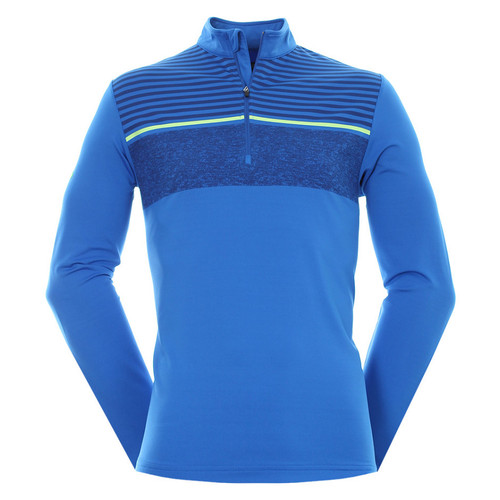 Callaway Mens Golf Chest Stripe Pullover Magnetic Blue