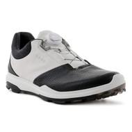 Ecco Mens Biom Hybrid 3 Goretex Boa Golf Shoes Black White