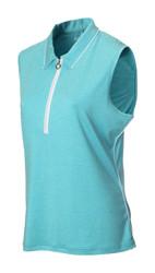 JRB Ladies Melange Sleeveless Golf Shirt New for 2018