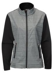 JRB Ladies Windproof Golf Jacket Black Check