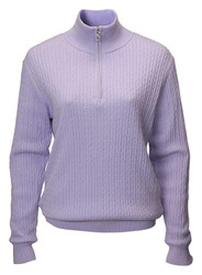 JRB Ladies Windstopper Lined Golf Sweater Lavender