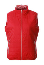 JRB Ladies Golf Gilet Bodywarmer Reversible Red