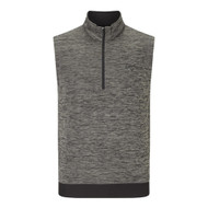 Callaway Mens Heathered Water Repellent 1/4 Zip Golf Vest Castlerock