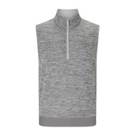 Callaway Mens Heathered Water Repellent 1/4 Zip Golf Vest Grey