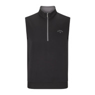 Callaway Mens Heathered Water Repellent 1/4 Zip Golf Vest Caviar