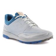 Ecco Mens Biom Hybrid 3 Goretex Golf Shoes White Olympian Blue