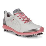 Ecco Women's Biom G2 Golf Shoes Concrete Silver Pink