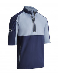 Callaway Mens 1/4 Zip Short Sleeve Windjacket Peacoat