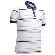 Callaway Mens 3 Colour Stripe Golf Polo White