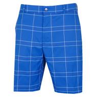 Callaway Mens Plaid Stretch Golf Shorts Lapis Blue