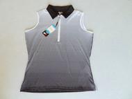 JRB Ladies Spot Sleeveless Golf Shirt Black