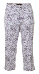 JRB Ladies CAPRI CROPPED Golf Trousers Purple Twirl