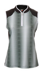 JRB Ladies Spot Print Sleeveless Golf Shirt (Spring 2020)