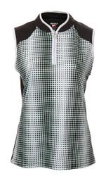 JRB Ladies Spot Print Sleeveless Golf Shirt