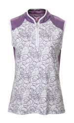 JRB Ladies Patterned Print Sleeveless Golf Shirt