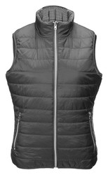 JRB Ladies Golf Gilet Bodywarmer Reversible Graphite/Black Check