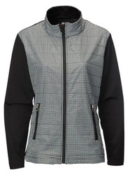 JRB Ladies Windproof Golf Jacket Black Check