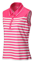 JRB Ladies Stripe Short Sleeved Golf Shirt