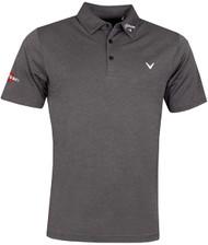 Callaway Golf Mens Odyssey Birdseye Polo Shirt Black Heather
