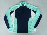 Callaway Golf Mens Blocked Mid Layer Top Aruba Blue
