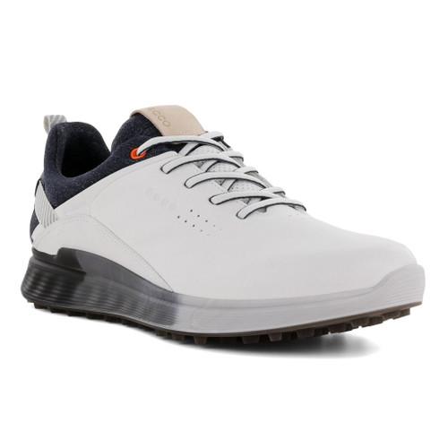 Ecco Mens S-Three Goretex Golf Shoes White Dritton