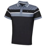 Callaway Mens X-Series Chest Block Golf Polo Caviar